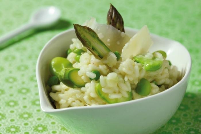 Recette de risotto aux asperges vertes et cantal facile et rapide