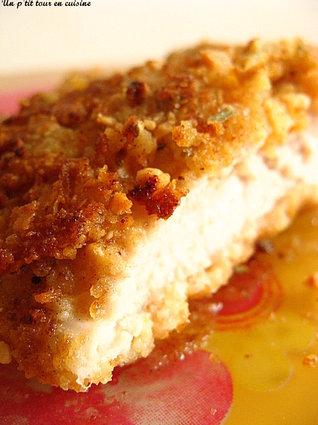 Recette escalopes de poulet panées aux corn flakes, cacahuètes ...