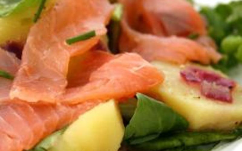 Recette salade pommes de terre et saumon fumé pas chère et facile ...