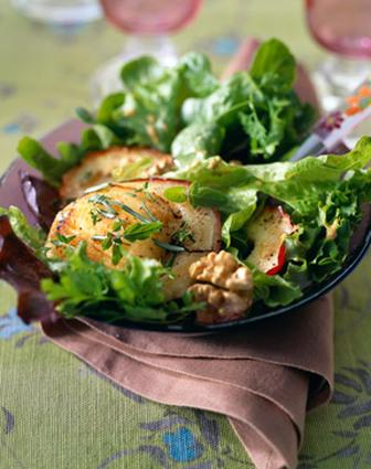 Recette de salade de chèvre chaud à la pomme