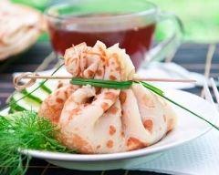 Recette aumônières au saumon fumé et tzatziki