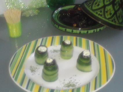 Recette de rouleaux de concombre aux dattes
