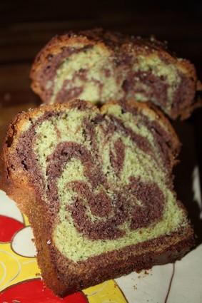 Recette de gâteau marbré chocolat-pistache