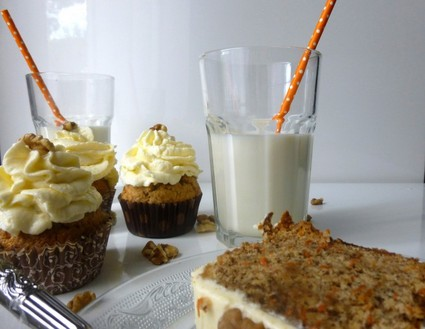 Recette de carrot cake avec gla age philadelphia et mascarpone recette - Recette carrot cake americain ...