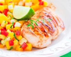 Recette poulet et salsa de mangue