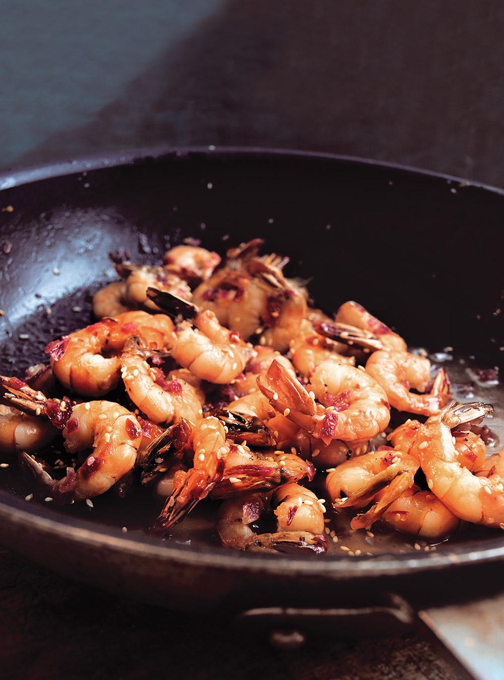 Crevettes au miel et au sésame | ricardo