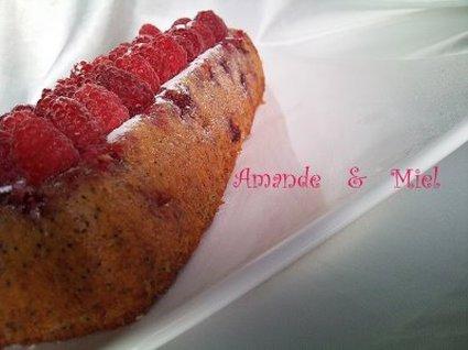 Recette de cake framboise-citron au pavot