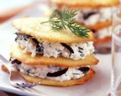 Recette tuiles au fromage blanc et olives