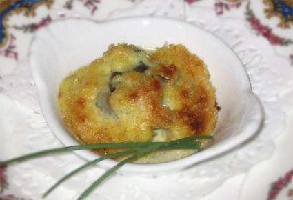 Recette amandes de mer gratinées au curry et aux noix