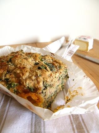 Recette de cake sans oeufs au sarrasin, cresson, jambon et ...
