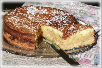 Gâteau caramel et noix de coco