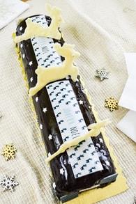 Recette de bûche chocolat noir et lait et vanille black & white façon ...