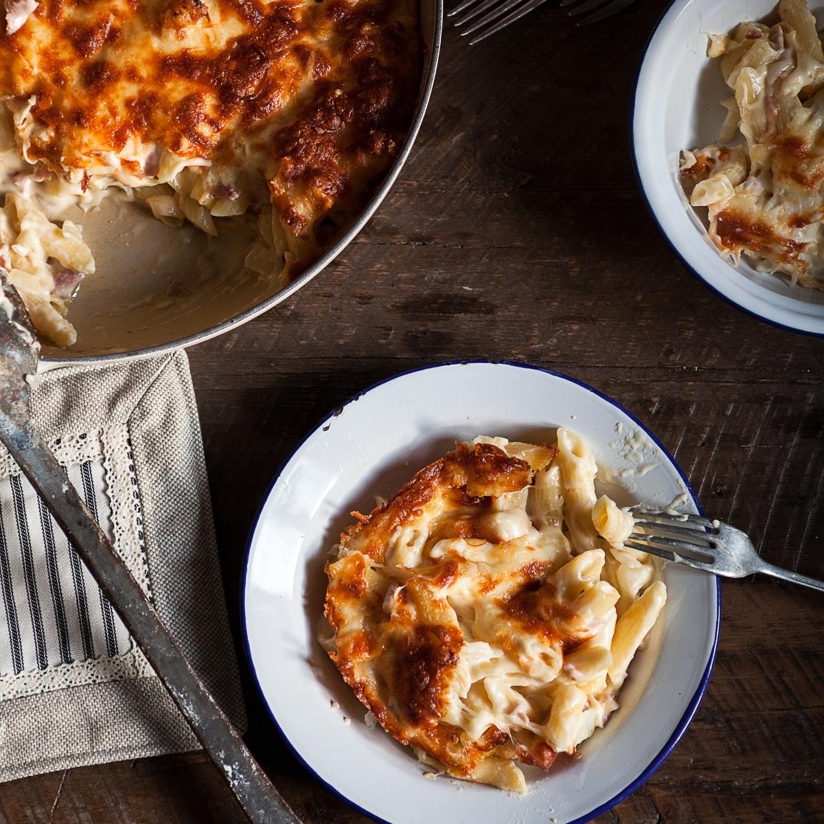 Gratin de pâtes au fromage