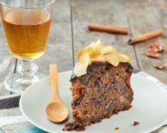 Recette gâteau aux noix, aux pommes et sucre roux