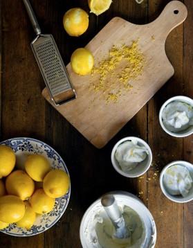 Glace au citron (sans sorbetière) pour 4 personnes