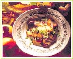Recette salade de pommes aux cèpes et chataignes