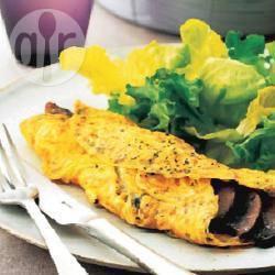 Recette omelette aux champignons et aux herbes aromatiques ...