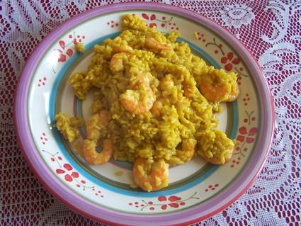 Recette de risotto aux crevettes et safran
