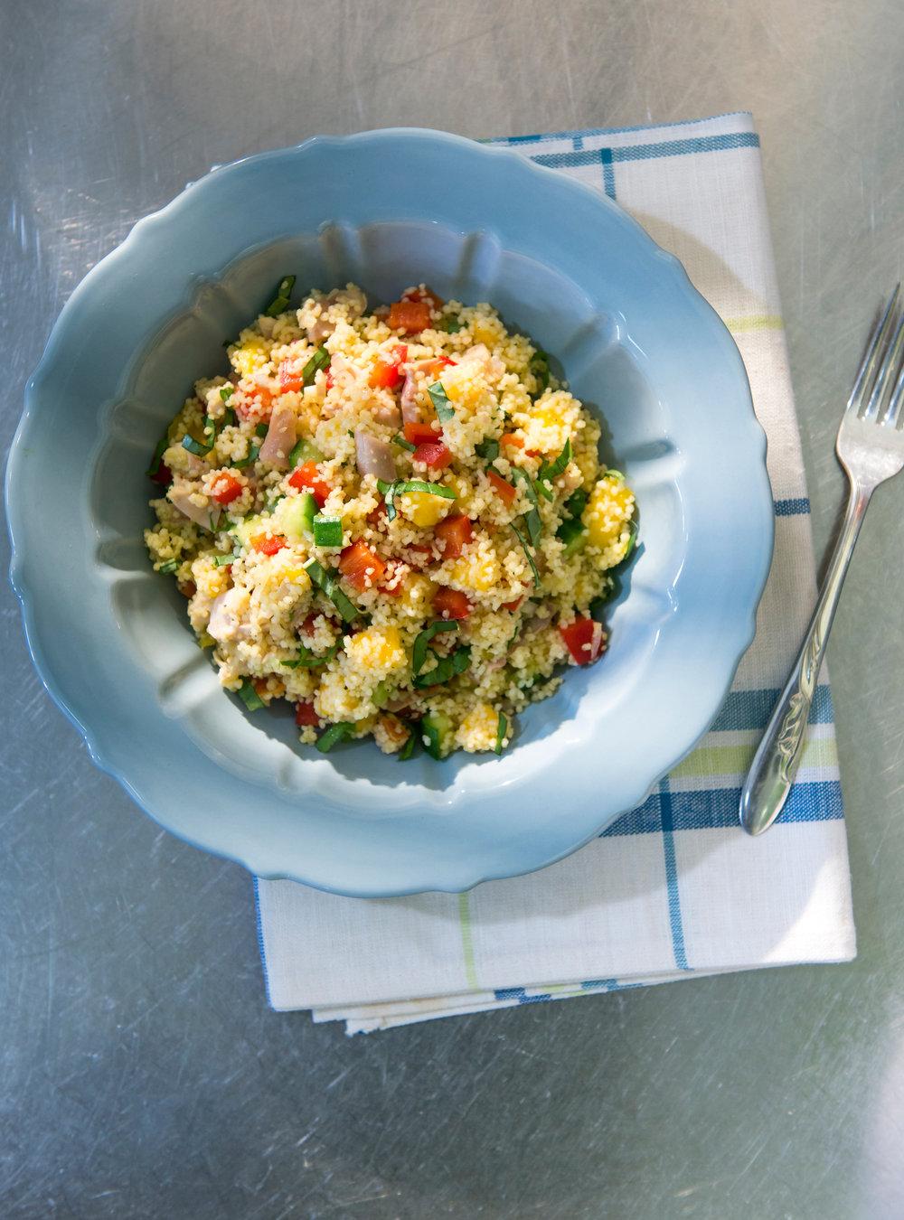 Salade de couscous, de poulet et de mangue | ricardo