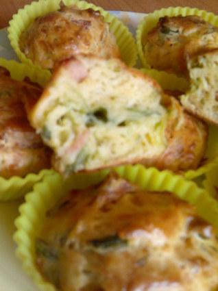 Recette de muffins poireaux, jambon et emmental