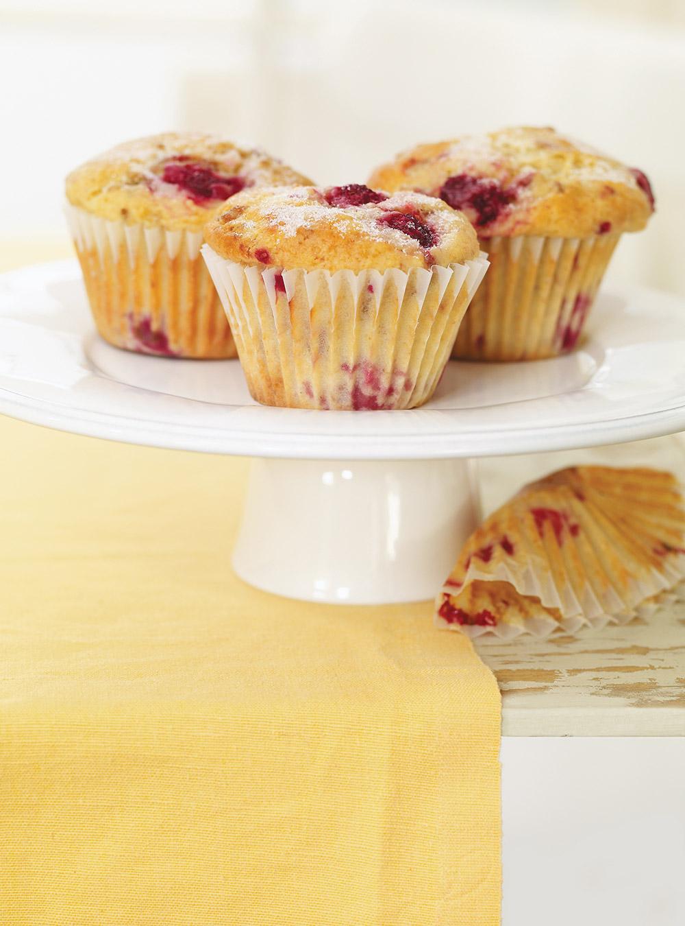Muffins aux framboises et au kéfir | ricardo