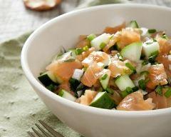 Recette salade fraîcheur saumon, pomme et concombre