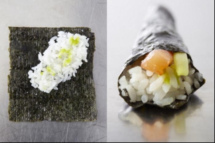 Recette de temaki concombre-carotte rapide