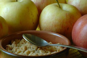 Crumble pommes-cannelle pour 6 personnes