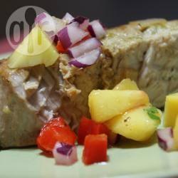 Recette steak de thon mariné et salsa à la mangue – toutes les ...