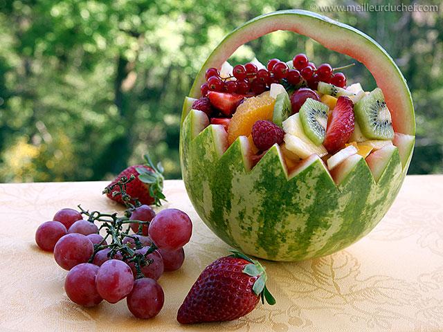 Salade de fruits frais  fiche recette illustrée  meilleurduchef.com