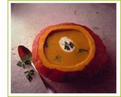 Recette soupe de potiron à la coriandre