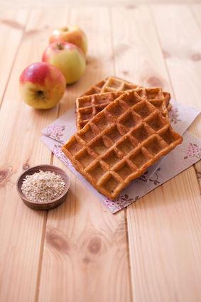 Recette de gaufres au son de blé et jus de pomme