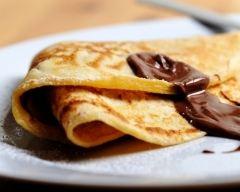 Recette pâte à crêpes à la pâte à tartiner au chocolat noir et caramel