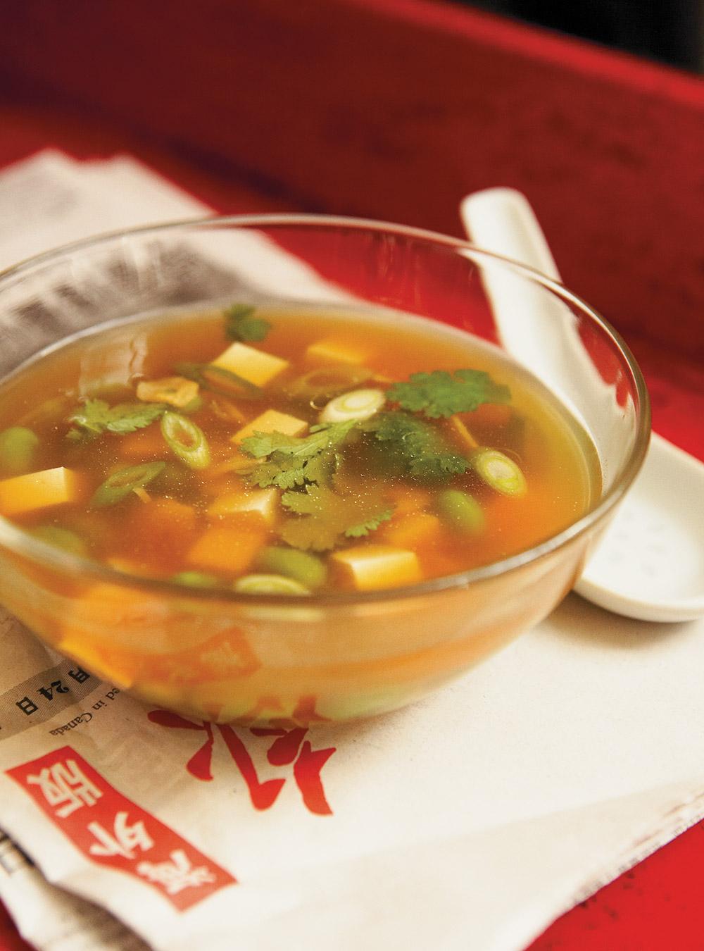 Soupe aux fèves de soya et au tofu tendre | ricardo