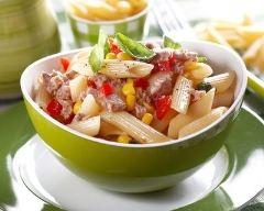 Recette salade de pâtes au thon, tomate et maïs