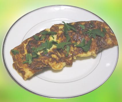 Recette omelette au chèvre et à la menthe fraîche
