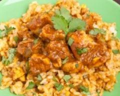 Recette dinde et blé au curry minceur
