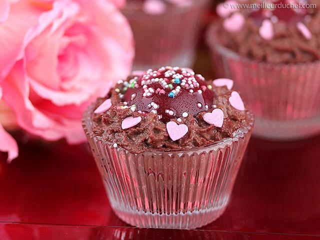 Mousse au chocolat au cœur de framboise  fiche recette avec ...