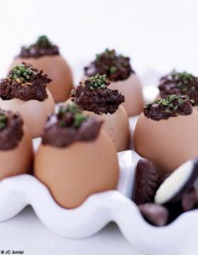 Oeufs coque en chocolat pour 4 personnes