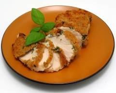 Recette blanc de poulet croustillant au basilic