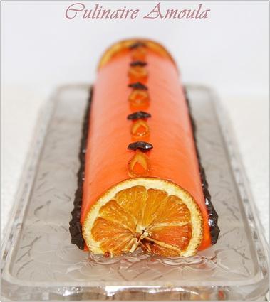Recette de bûche de noël à l'orange et truffes au chocolat