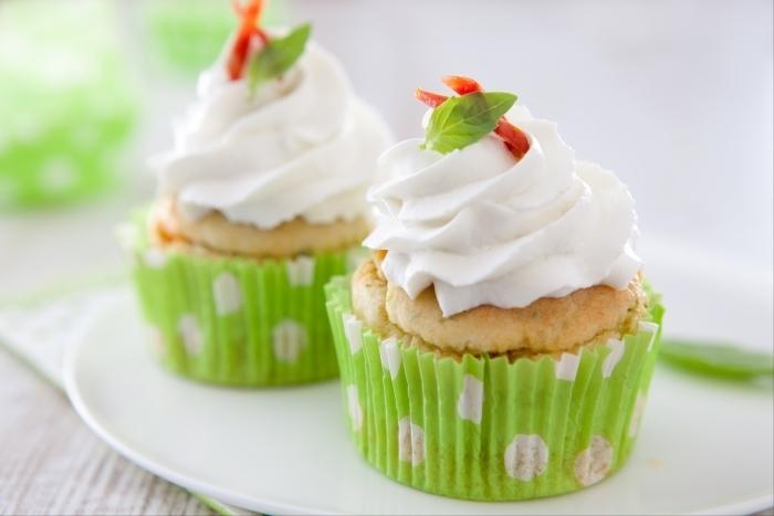 Recette de cupcake au chèvre pistou et chorizo facile et rapide