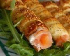 Recette rouleaux au saumon et à la ricotta