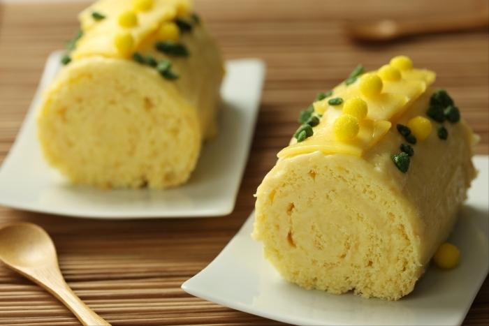 B che de no l exotique l 39 ananas et la mangue recette de b che recette - Buche de noel facile et legere ...