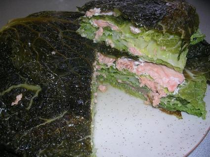 Recette de millefeuille de chou aux deux saumons