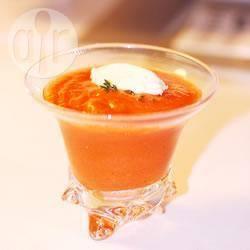 Recette soupe froide à la tomate et glace au parmesan – toutes les ...