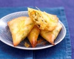 Recette samosas au crabe, petits légumes et carré frais