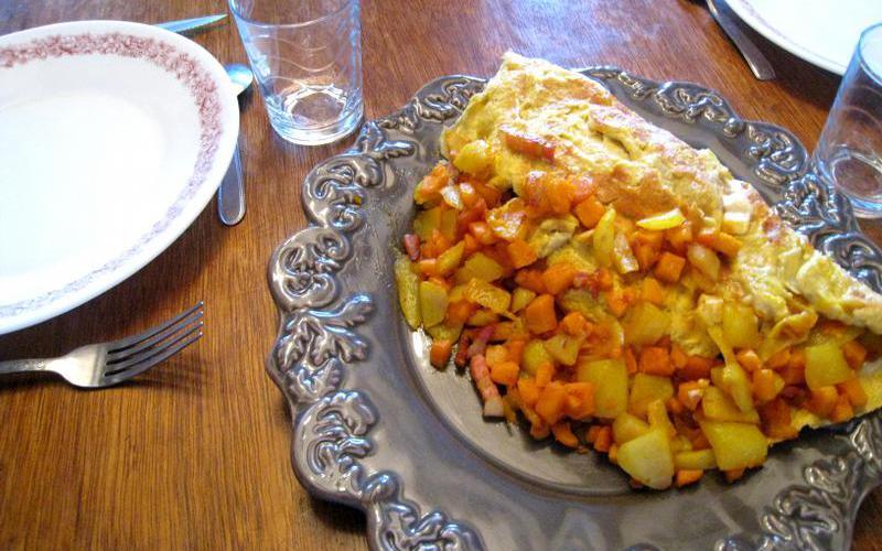 Recette omelette aux légumes pas chère et simple > cuisine étudiant