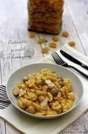 Recette de pâtes aux champignons et poulet façon risotto