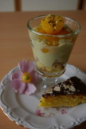 Recette de crème à la pistache, aux abricots et aux amandes